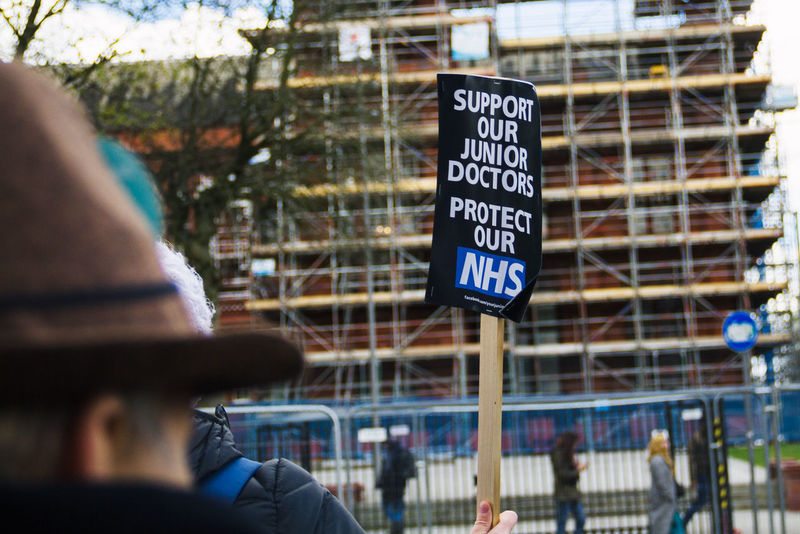 Banner Close-up Day Demonstration Lifestyles National Health Service Nhs Outdoors Protest Public Health Real People Resist Sign United Kingdom Doctors Manchester UK Junior Doctors Rights
