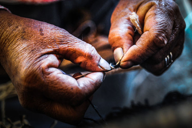 Close-up Day Hand Hand Woman Human Body Part Human Hand Indigenous Culture Men One Person Outdoors People Real People Skill  Working