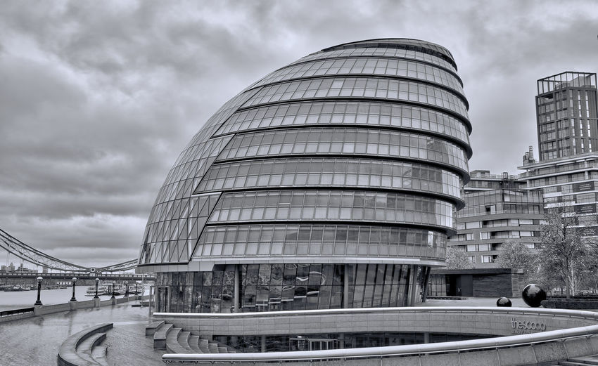 City Hall Against Cloudy Sky