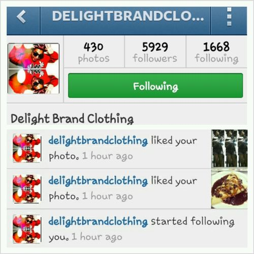 They Follow Me In Instagram