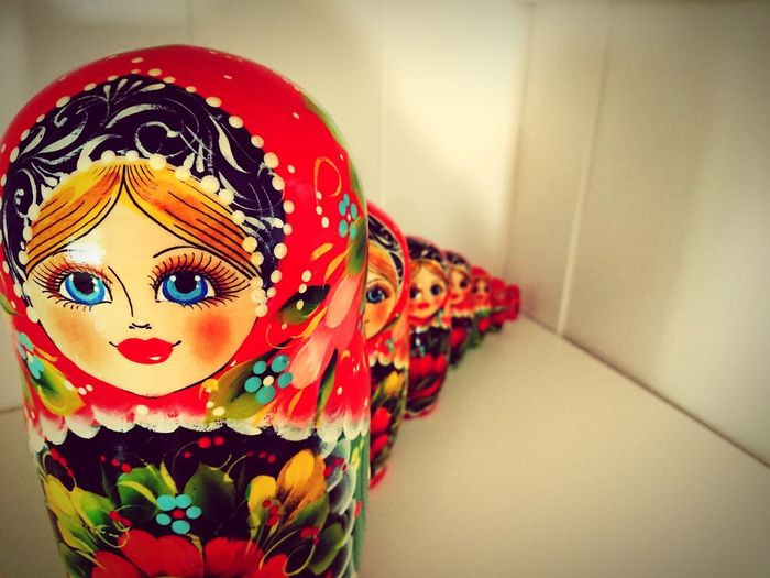 Our Matrjoschka Tradition Matroshka Matrjoschka Russian Multi Colored Close-up Sculpture