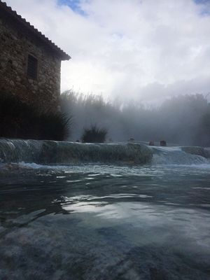 Italy Tuscany Toscana Saturnia Water Sky Architecture Day Built Structure Nature Building Exterior Outdoors Cloud - Sky Sea Waterfront Beauty In Nature Cold Temperature No People Winter Scenics Wave Tree Power In Nature Awesome Relaxing