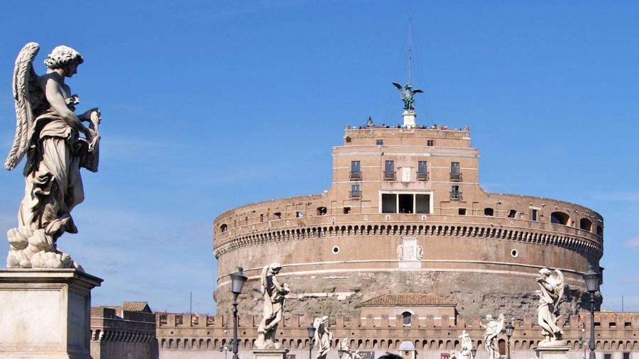 Holiday Trip Rome Roma Rome Italy Traveling Hystorical Angels Castello Castel Sant'Angelo