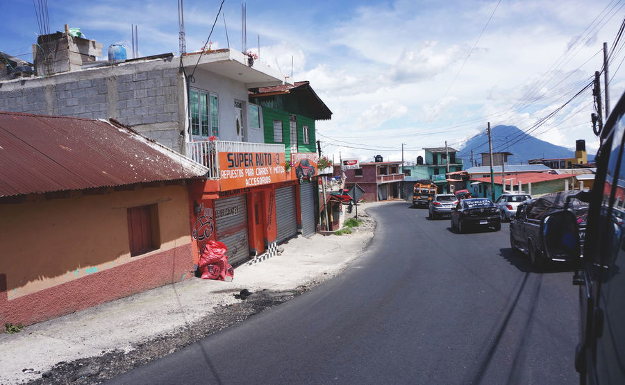 Colorful Buildings Guatemala In The Car Lago Atitlán On The Road Road Trip South America Through The Window Central America This Is Latin America