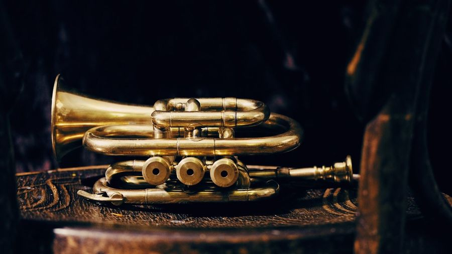 Musical instrument Gold Trumpet EyeEm Selects Close-up Music Metal Musical Instrument Indoors  Still Life Arts Culture And Entertainment