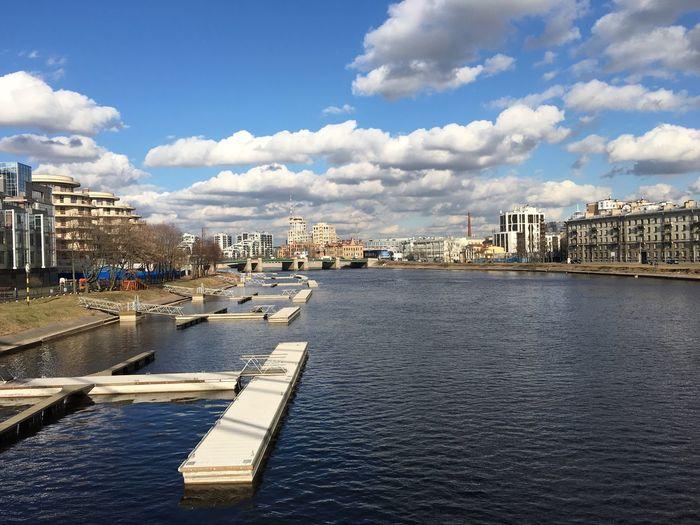 река набережная вода небо солнечно солнечныйдень солнечный день облака вид вид с моста Sky Cloud Sunny Sunny Day Sunnyday Water Saint-Petersburg View