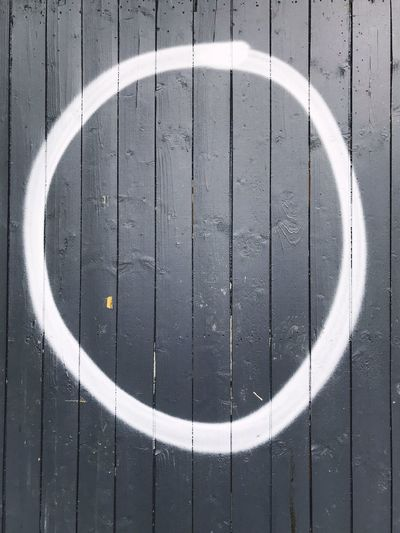 Spray Paint Graffiti Letter O Zero Shape Geometric Shape Circle Pattern No People Design Day Backgrounds Full Frame Wall - Building Feature Outdoors