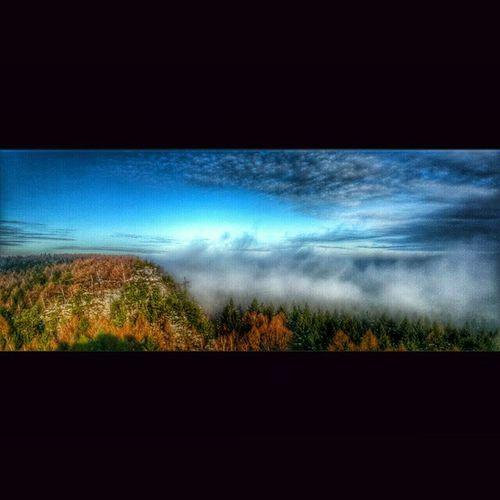 Zittauergebirge Iluvit Mountainman Ig_europe mountains ig_nature picoftheday moments look colorful foggy beautiful beautiful_places naturegram natureshots