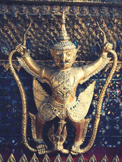 Close-up No People Sculpture Statue Thailand Gold Wat Phra Kaeo Travel Destinations Palace Religion Spirituality