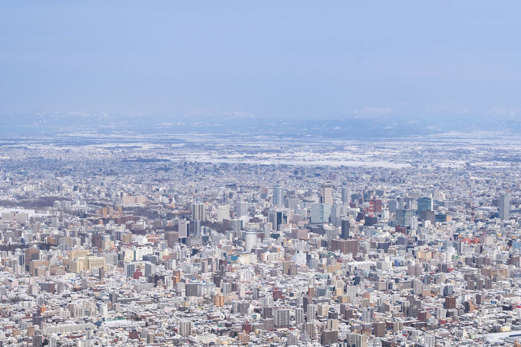 Cityscape Building Exterior City Architecture Built Structure Building Residential District Crowd Sky Crowded Day Nature Aerial View Outdoors High Angle View City Life Copy Space Landscape Skyscraper Office Building Exterior Financial District  Settlement TOWNSCAPE Sapporo Hokkaido