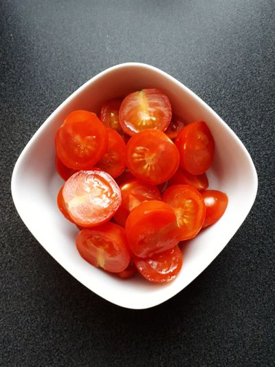 Bowl Tomatoes Red Vegetable White Grey Kitchen Meal Food Food And Drink Foodphotography Healthy Eating Healthy Food Healthy Close-up Food And Drink