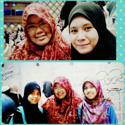 ^^ Meet new sister, Kak Najiha during TOF2013 and meet super junior MrsmLenggong MrsmTaiping adik ipar @saiyidahfarahathirah @ adik Syed :) :) :) There are such a lovely sisters... ^_^ Feeling blessed to meet many wonderful Sistersofislam in @twinsoffaithkl thesunnahthebetter addin almightybless