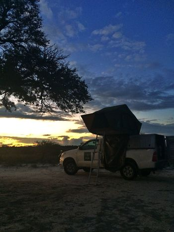 Campsite siswaze Kgalagadi transfrontier Sunset Nambwzanam15