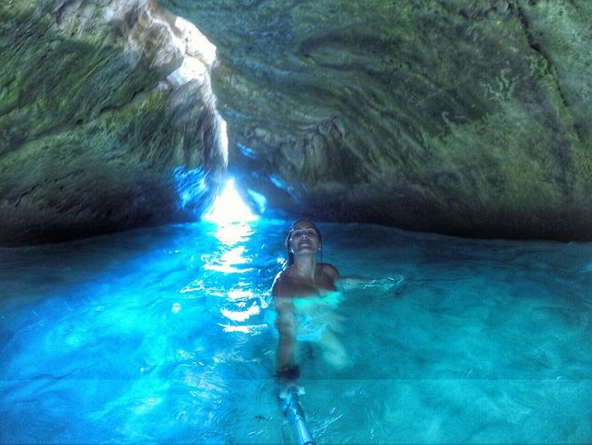 Cave Beach Gopro Blue Water Lebanon