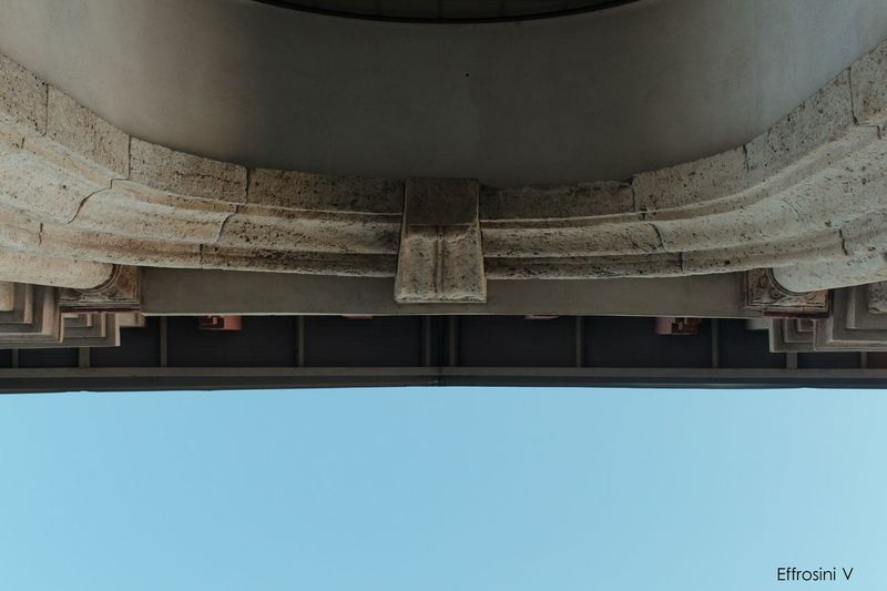 Upside down. Arch Architectural Column Architectural Feature Architecture Blue Building Built Structure Day Details Directly Below Exterior Low Angle View Marble No People Sky