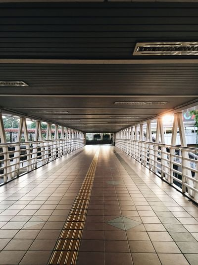 morning walk Pasar Seni Kuala Lumpur Morning Light Morning Architecture Built Structure The Way Forward Direction Transportation In A Row Indoors  Diminishing Perspective Public Transportation No People Lighting Equipment Flooring Subway Architectural Column Tile Ceiling Bridge Day Tiled Floor