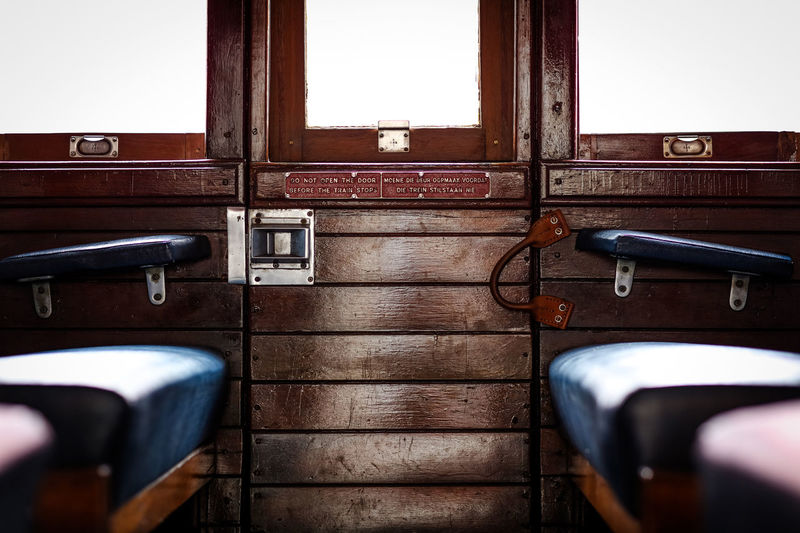 Interior of train