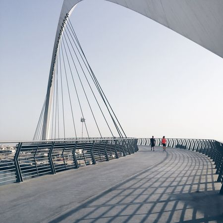 Beat the heat ☀️ The Week On EyeEm Bridge - Man Made Structure Connection Built Structure Togetherness Footbridge Outdoors Architecture Bridge Colour Your Horizn The Architect - 2018 EyeEm Awards