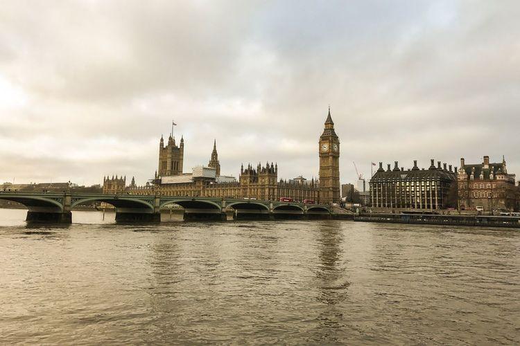 Panoramic london cityscape