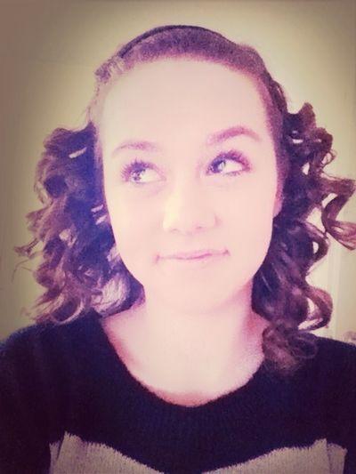 Curled My Hair:)