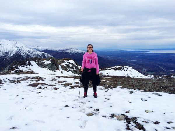 On The Top Of The World Montain  Landscape View Hiking Alaskan Life Exchange Student USA Work Out Let's Do It