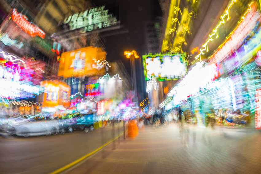 Walking in Mongkok, Hong kong ASIA Asian  HongKong Long Exposure Shot Market Nightphotography Travel Architecture Blur Blurred Motion Building Exterior Chinese City Hongkongphotography Illuminated Illumination Long Exposure Modern Mongkok Multi Colored Neon Night Nightlife No People Outdoors