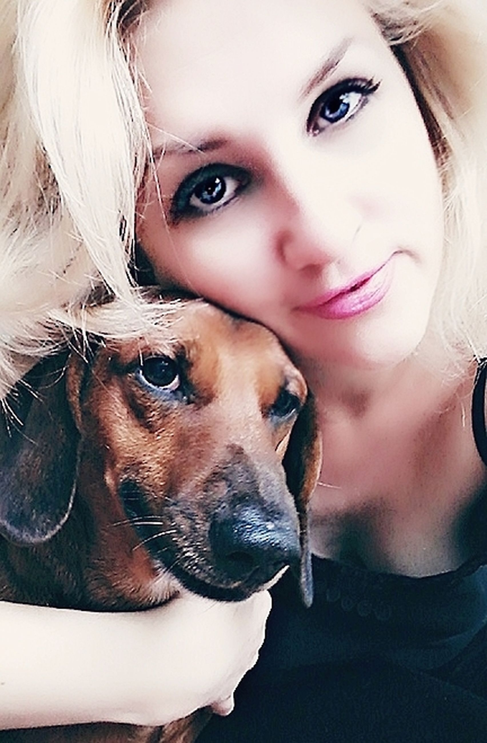 canine, dog, pets, one animal, domestic, domestic animals, mammal, portrait, real people, looking at camera, one person, headshot, vertebrate, young adult, leisure activity, young women, pet owner, positive emotion, teenager