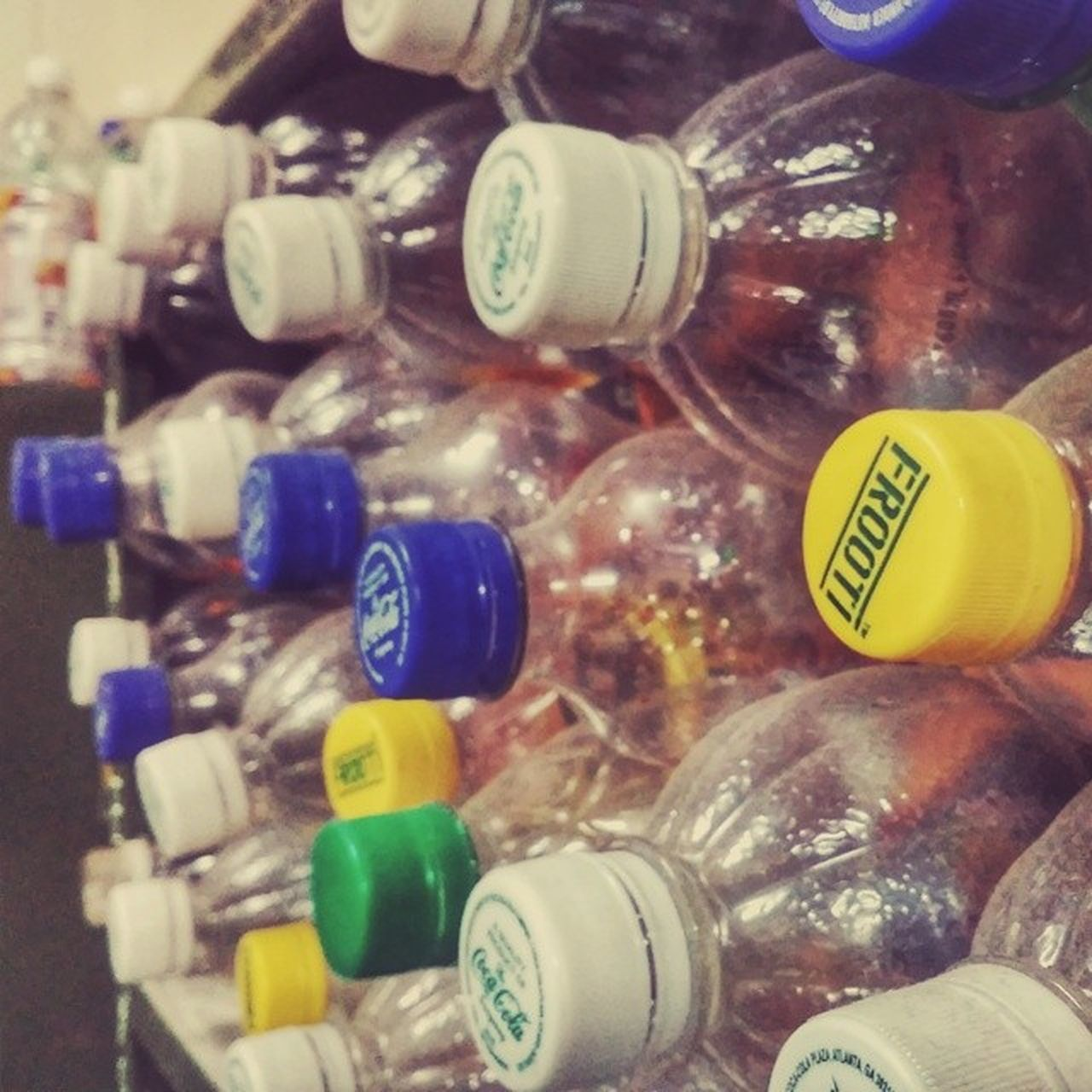 bottle, indoors, close-up, no people, variation, large group of objects, price tag, day