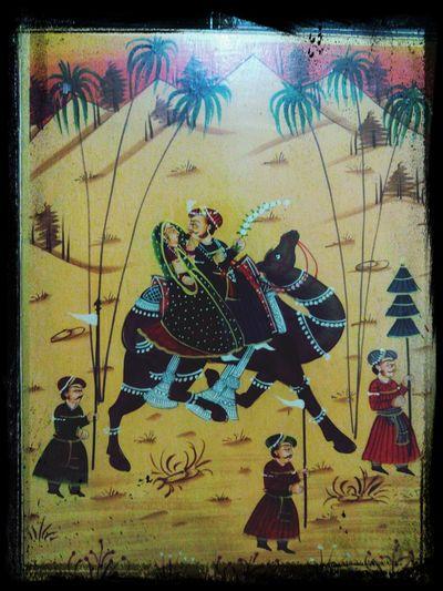 RajasthanArt Royal Art History beutiful rajasthani painting on Furniture