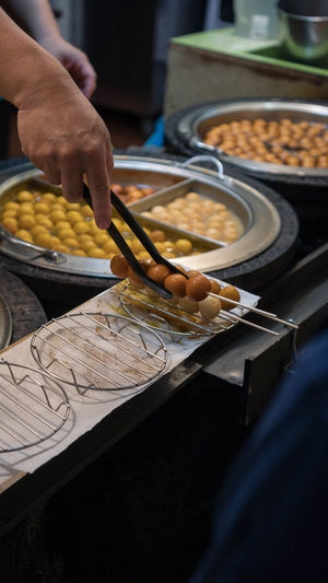 Cooking Market Street Market Taiwan Tourist Tourist Attraction  Travel Chef Food Food And Drink Freshness Hand Holding Human Hand Jiufen Kitchen Utensil Occupation One Person Preparation  Preparing Food Street Food Streetfood Tourism Tourist Destination Travel Destinations