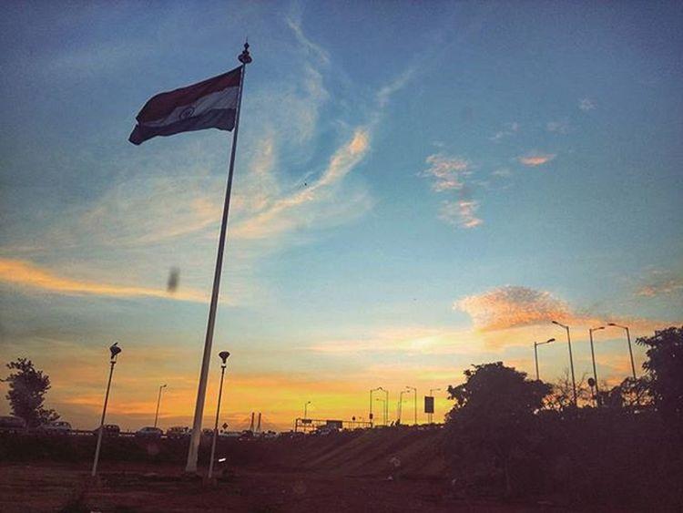 Jbclickz Sunset Indianflag Tricolour Clouds