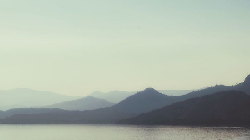 Mountain Clear Sky Lake Water Reflection Tree Sky Landscape View Into Land Sunrise - Dawn Patchwork Landscape Mountain Peak Mountain Ridge Sunrise Morning Mountain Range Silhouette Tranquil Scene Calm Dawn Fog Foggy