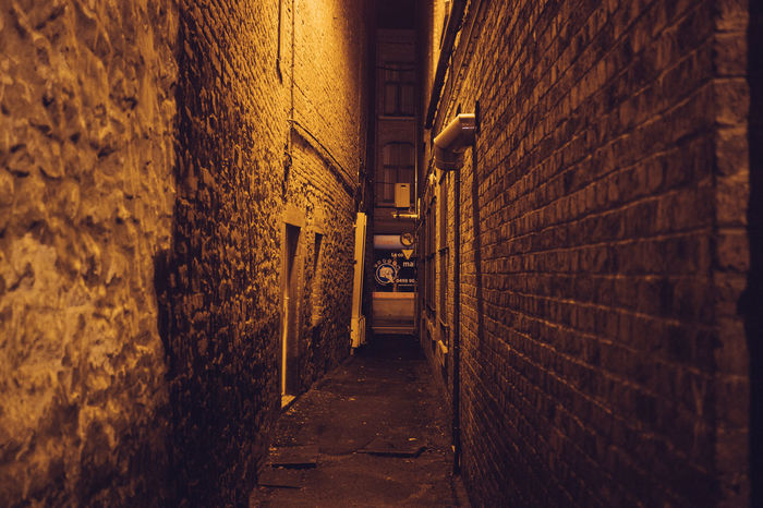 Alley Architecture Brick Wall Building Exterior Built Structure Corridor Day Illuminated Indoors  No People The Way Forward Walkway