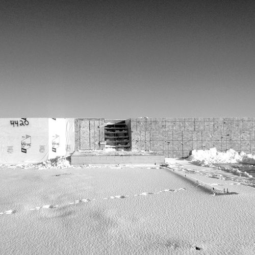 QVHoughPhoto Minnesota Moorhead Outdoors Cityscapes Blackandwhite IPhoneography IPhone4s Construction Foundation