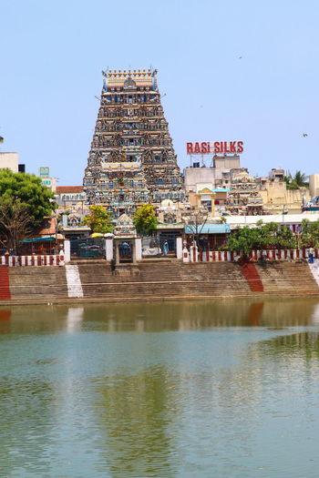 Kapaleeswarar Temple,Mylapore,Chennai,India Architecture Built Structure Chennai,India Kapaleeswarar Temple Lifestyles Mylapore Paulvadivu Roadside St Temple Pond Tourism Water