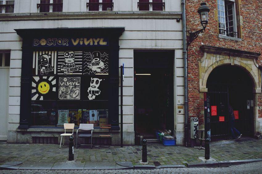 Brussels Belgium Vinyl Records Building Exterior Streetphotography