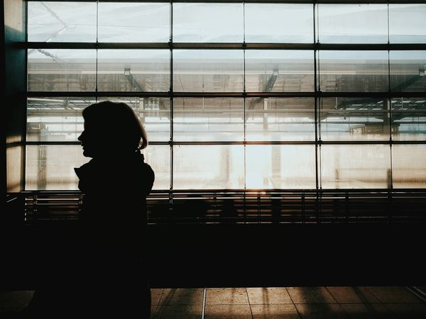 Morning view... Window One Person One Woman Only Looking Through Window Adult Silhouette Huaweiphotography Huawei P9 Leica Streetphotography Real People Architecture Candidmoments Waiting Train Station Women Around The World Welcome To Black Berlin Love