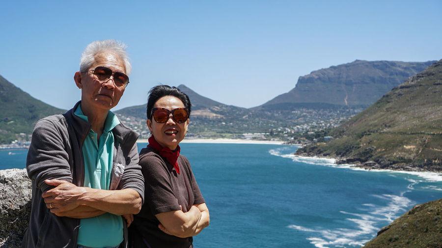 Asian senior elder couple diamon anniversary trip to south africa wild nature trip
