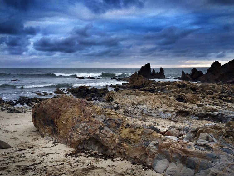 Life often gets rocky and blue...but it's those very components that make us who we are... Eye4photography  Life Is A Beach Sky And Clouds Ocean Dream California Coast Beach Photography Beach Life Ocean Nature_collection Shades Of Blue