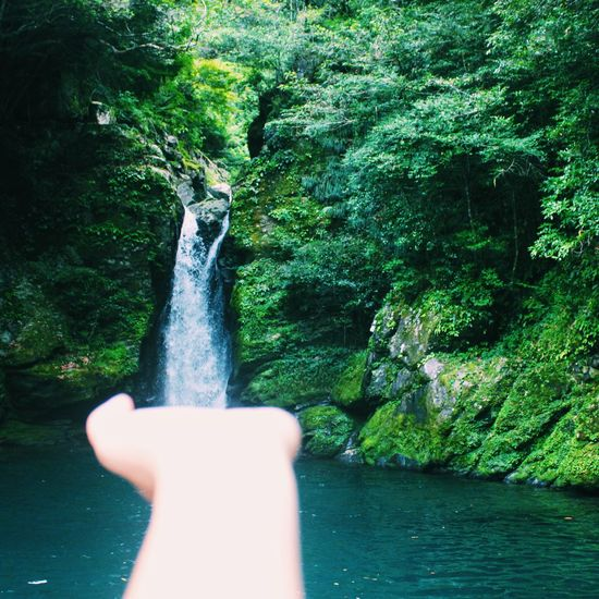 The Magic Mission Majic Sightseeing Beauty In Nature Waterfall Water_collection Waterscape Falls Flowing Water Green Color Emerald Kochi にこ淵 Nikofuchi Nature Freshness Stream River Flowing Waterfront
