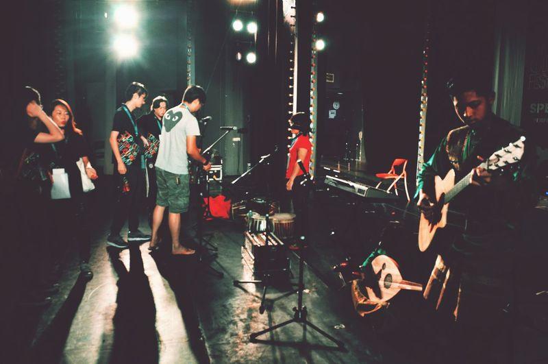 Stage Lights Stagelife Backstage Soundcheck Performance Art Malay Culture Musician 2015  2015InternationalChildrenCultureAndArtFestival Fresh On Eyeem  Performance Concert