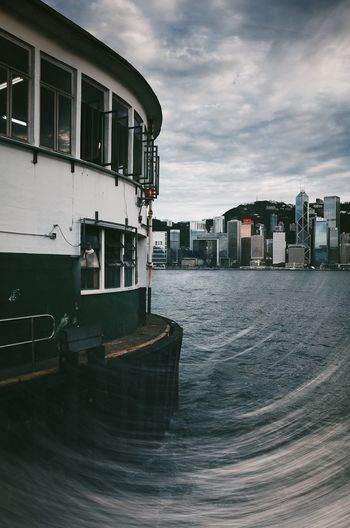 Hong Kong Hong Kong Architecture Multiple Exposures Architecture Building Building Exterior Built Structure City Cloud - Sky Day Mode Of Transportation Nature Nautical Vessel No People Outdoors Overcast Passenger Craft Sea Sky Transportation Water Waterfront The Creative - 2018 EyeEm Awards