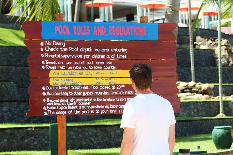 Information Boards For Directios Bintan Lagoon Bintan Island Indonesia