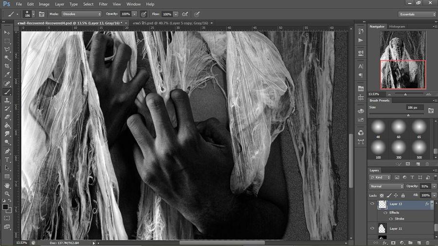 Photoshop Inprogress Intaglio