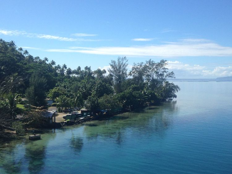 Beauty In Nature Day Moorea Nature No People Outdoors River Scenics Sky Tranquil Scene Tranquility Tree Water Waterfront