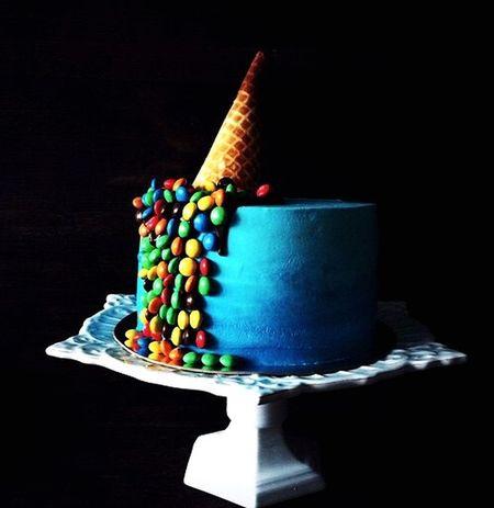 Cake♥ Delicious Blue M&m's