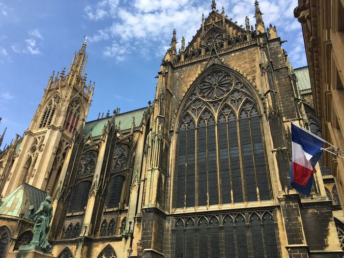 Metz, France 🇫🇷 Belief Gothic Style Travel Destinations The Past No People Day Nature Tower Religion Outdoors Cloud - Sky History Spirituality