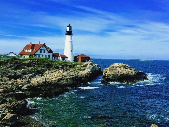 Lighthouse Water Sea Day Outdoors Maine Portland Maine Scenics Blue Beautiful EyeEmNewHere Eye4photography  Eastcoast Northeast Coast Newengland IPhone Photography IPhone Iphone6