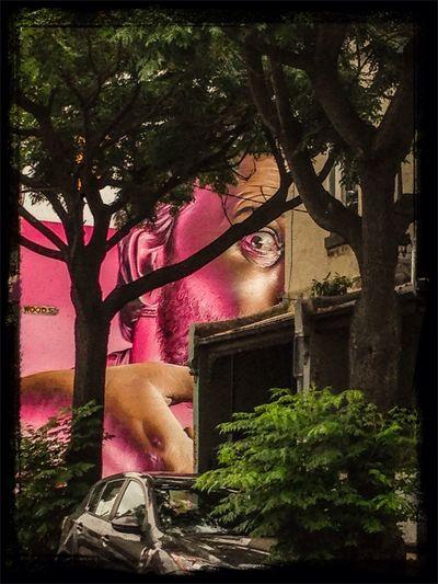 Melbourne Graffiti pic-a-boo with Smug...