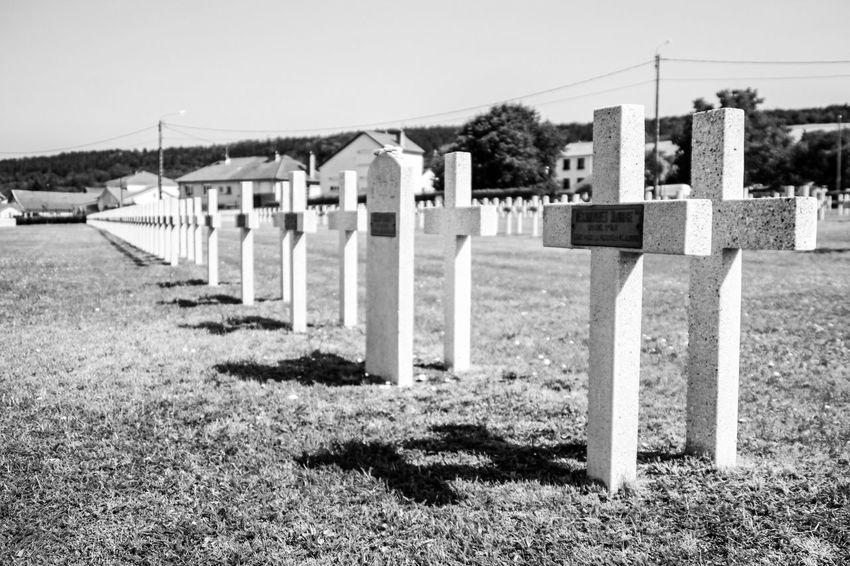 In Verdun - France 10 Verdun Memorial Cemetery Day Grass Grave In A Row Memorial Nature No People Outdoors Plant Sadness Stone The Past Tombstone Verdun Verdun 1914-1918